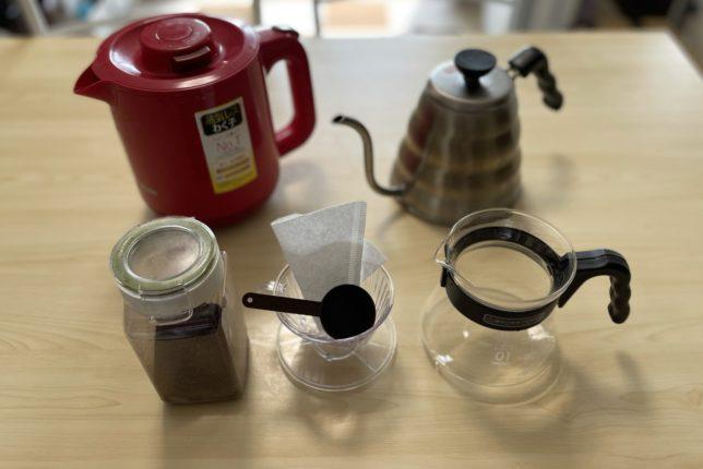 美味しいコーヒーを淹れるときに準備する道具