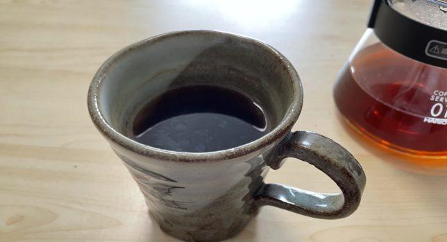 コーヒーの旨味が返しによってしっかりと抽出されている